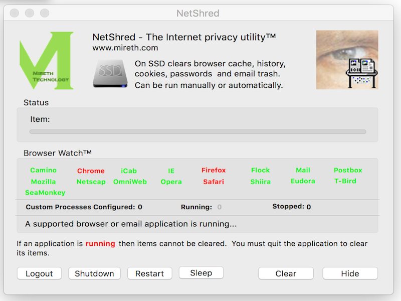 Click to view NetShred X screenshots