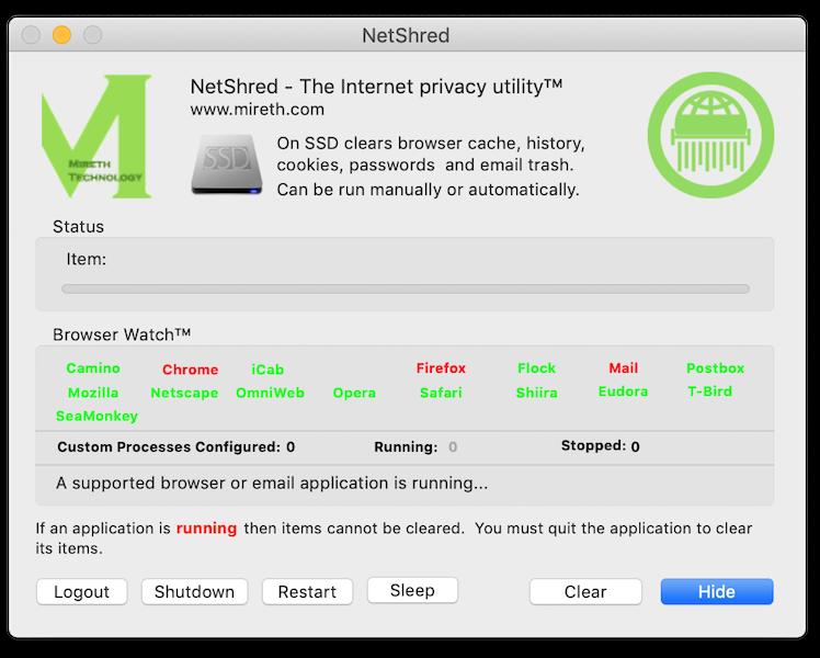 NetShred X full screenshot