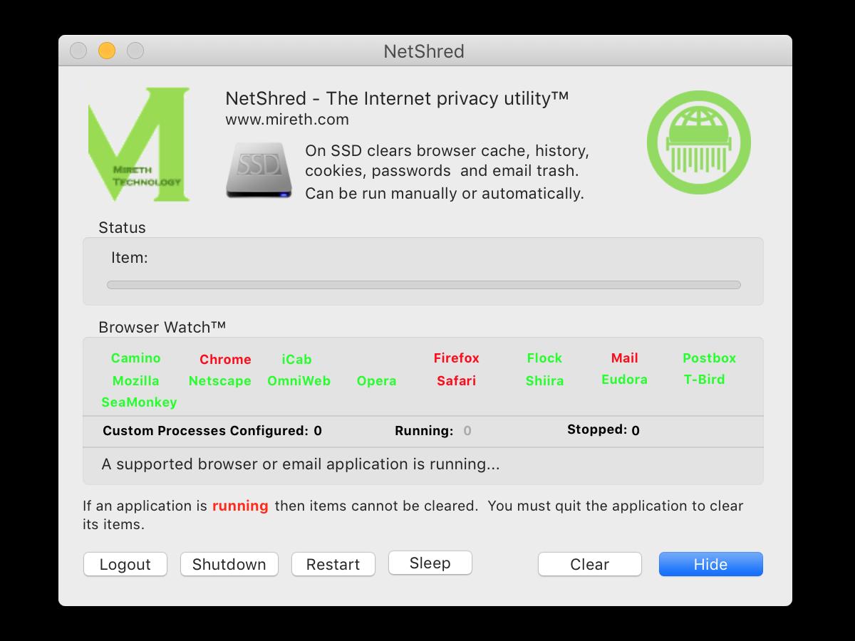 NetShred X 5.7.1 Mac 破解版 缓存清理软件