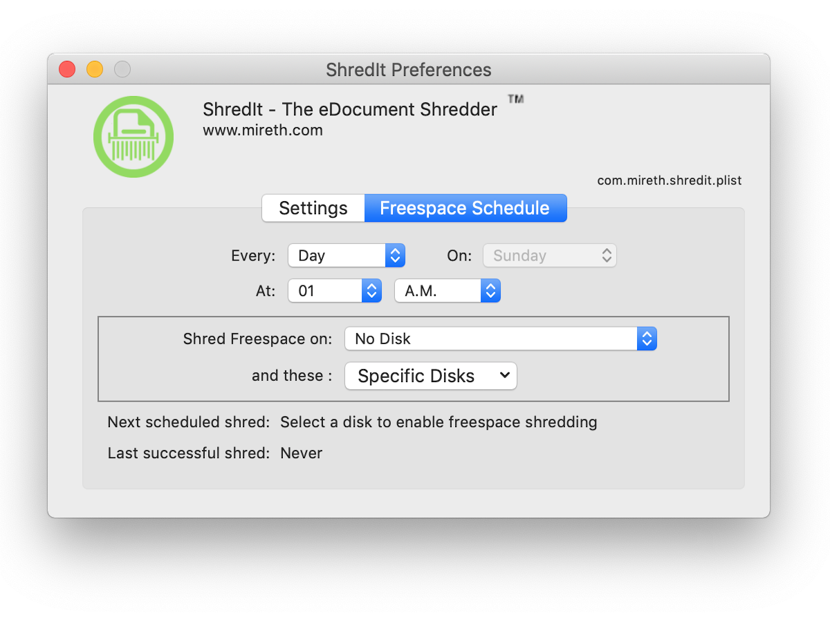 ShredIt X   Mac: How to erase free space on your Hard Drive   Mireth