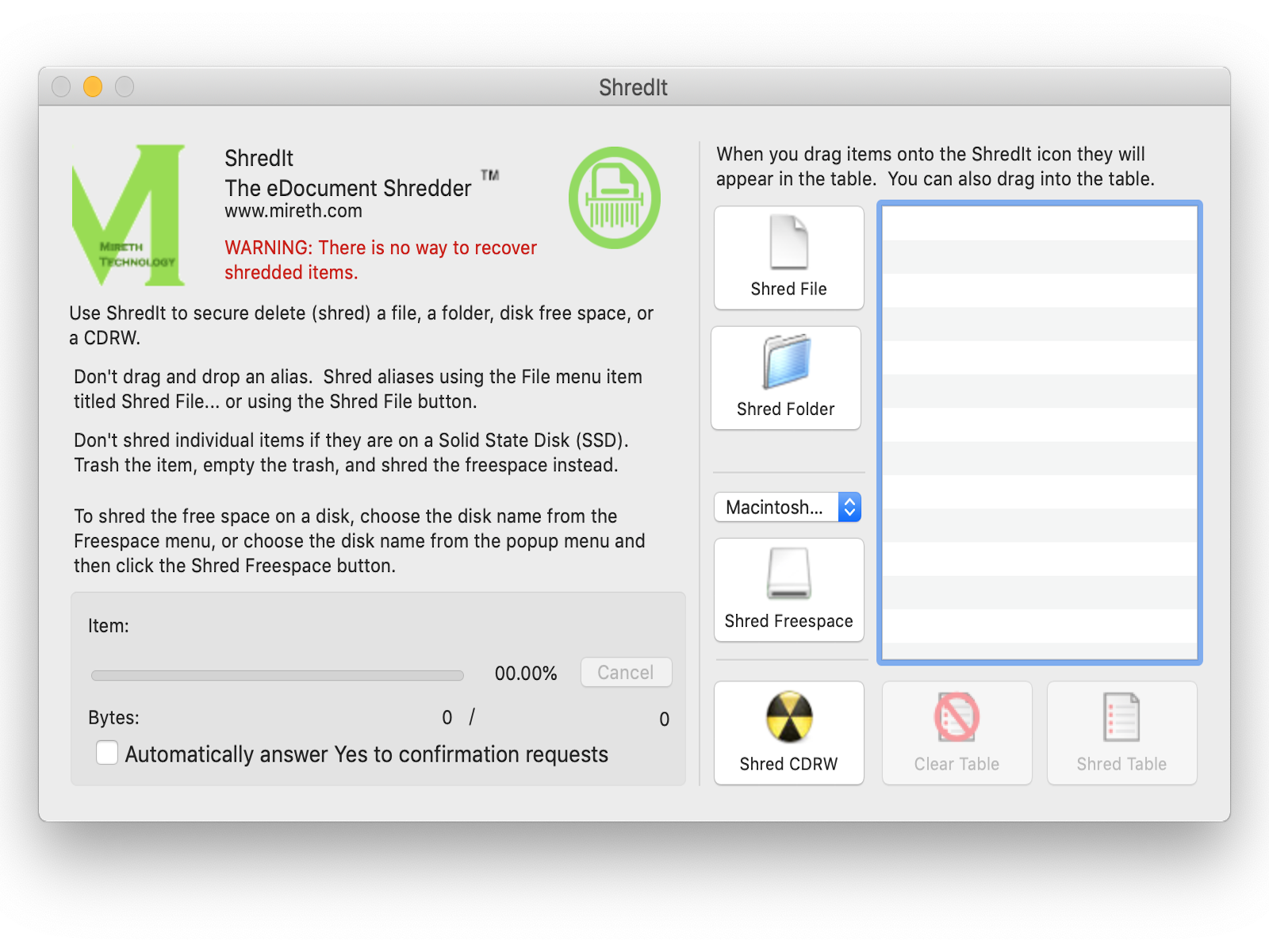 ShredIt X 6.4.0 Mac 破解版 安全删除数据安全软件